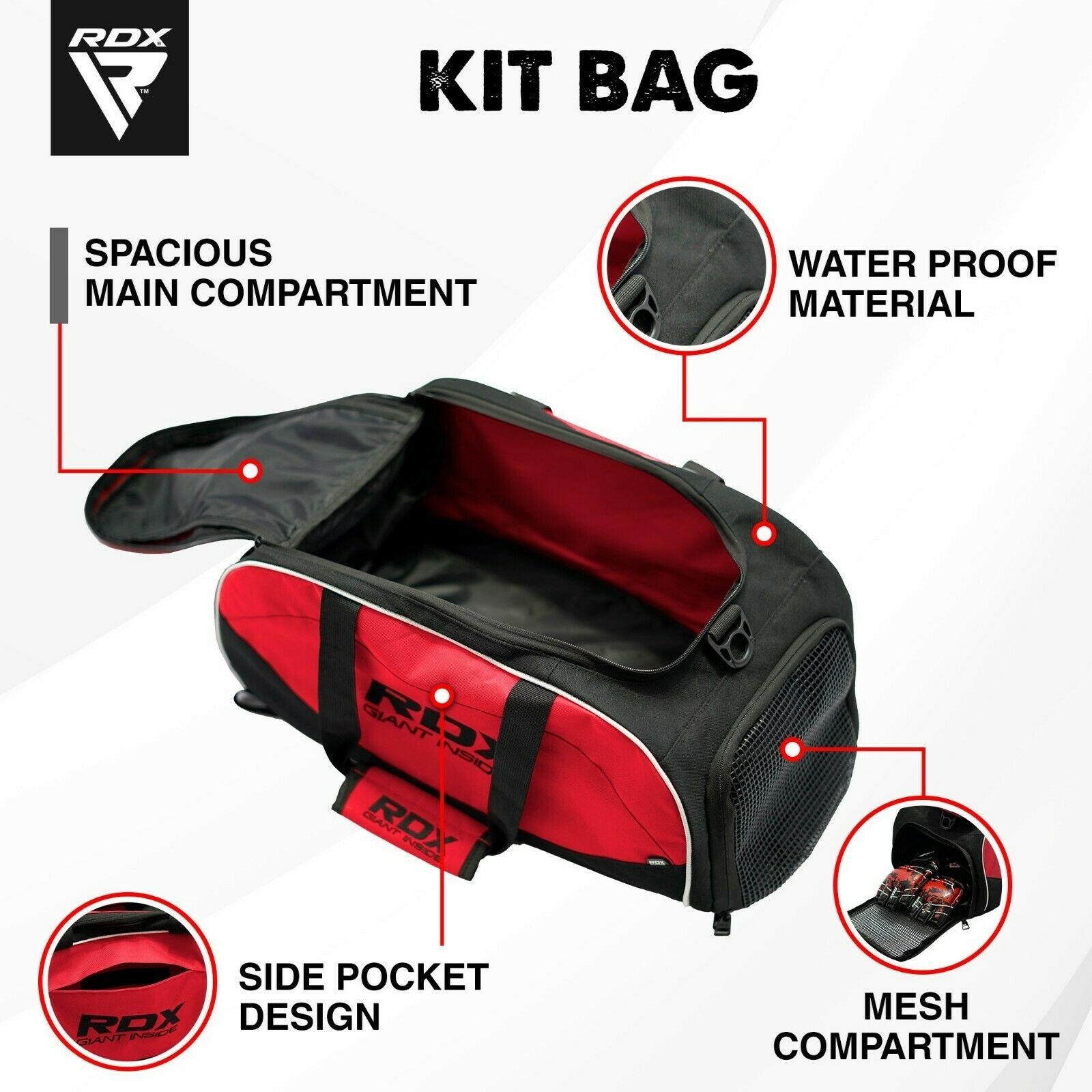 RDX Gimnasio Bolsa Saco Pesado Mochila Rojo Gimnasio Fitness Gym Bolsa Kit Bag