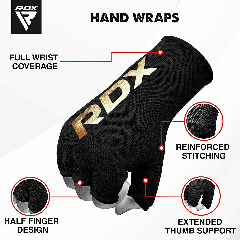 Boxing Hand Wraps Elasticated Inner Gloves MMA Muay Thai Kickboxing Bandages