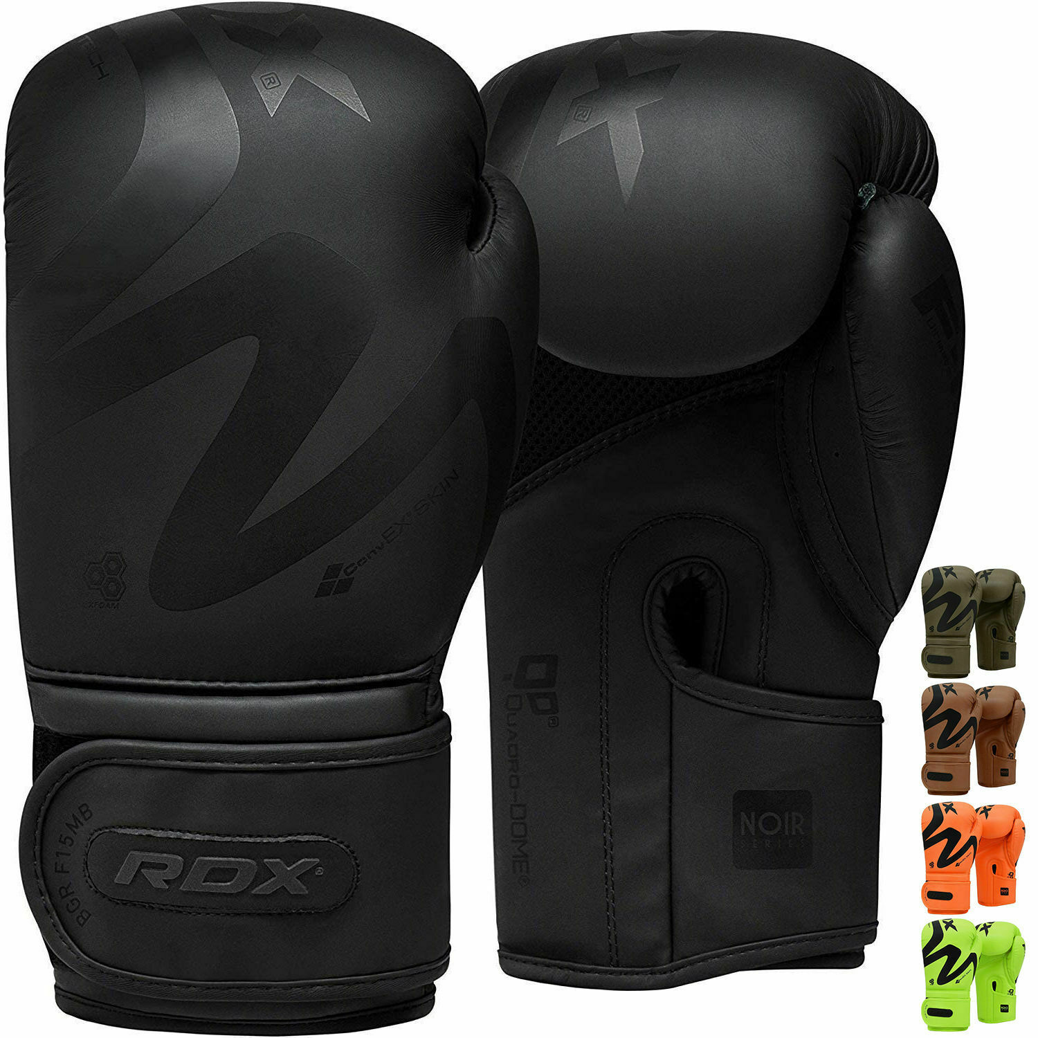 RDX Boxing Gloves Leather Training MMA Sparring Punch Bag Muay Thai Fight CA