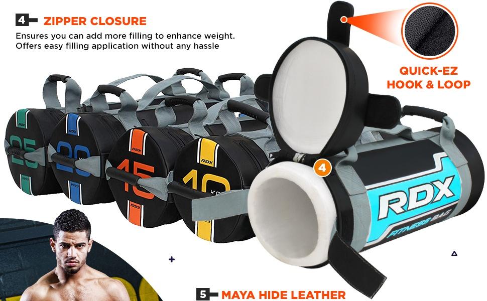 RDX Weighted Formation Sac FITNESS puissance de sacs de sable Poignées Poids Levage BagBase