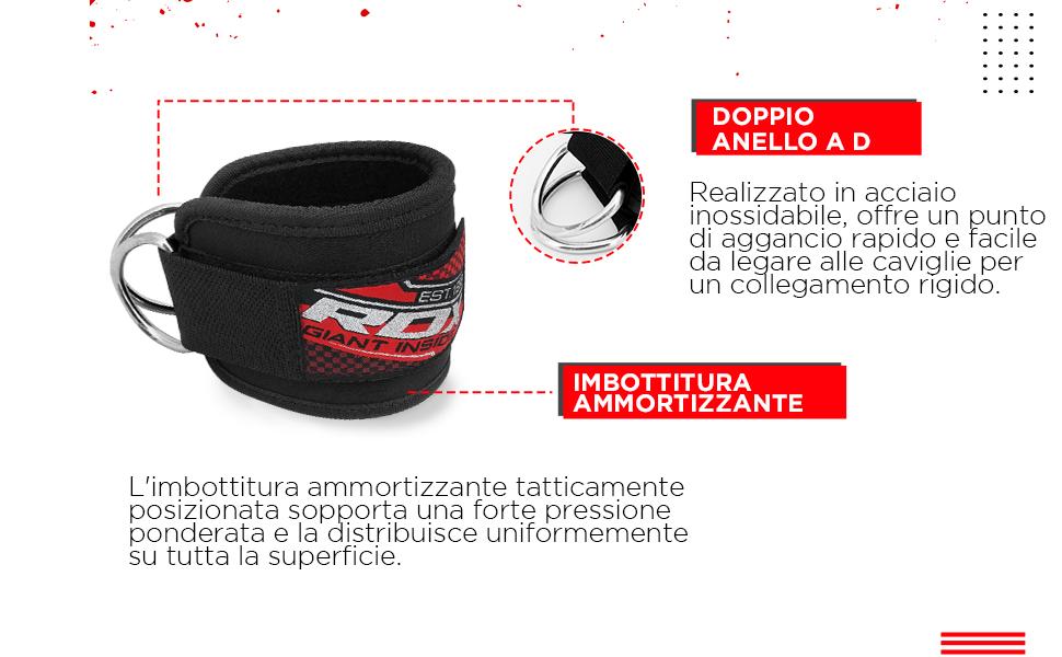 RDX Fascia Elastica Fitness Caviglia Gemello DRing Cinghia Multi Palestra Posare